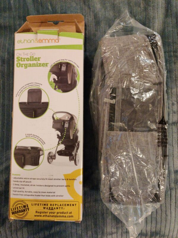 Ethan & Emma Baby Stroller Organizer with Insulated Cup New - Open Box