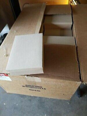 Uline Kraft Jewelry Boxes Size 8x5.5x2 Box Of 50