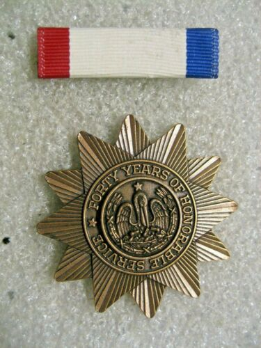 /Louisiana Longevity Medal Bar and badge,USA