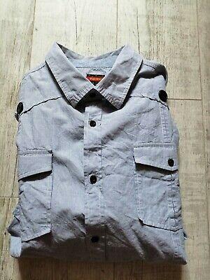 HAMNETT Men's Long Sleeved Shirt STRIPED Size 3XL  BLUE & WHITE Superb SUMMER