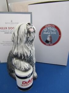 ROYAL DOULTON OLD ENGLISH  DULUX DOG 50th ANNIVERSARY new in box