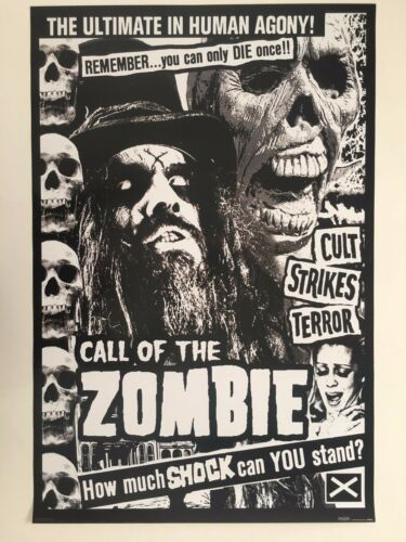 ROB ZOMBIE,CALL OF THE ZOMBIE, RARE AUTHENTIC LICENSED 2008 POSTER