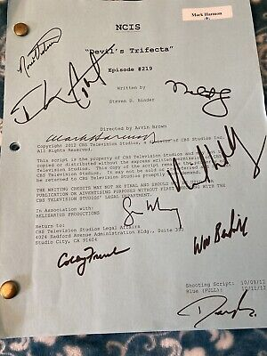 Signed NCIS Scripted Episode 219 Devil's Trifecta