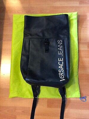 VERSACE JEANS Macrologo Backpack - Black