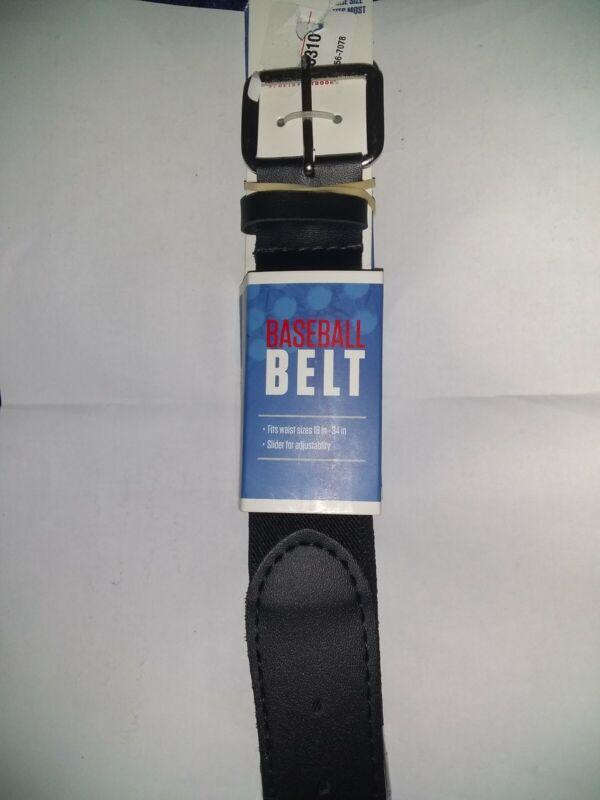 Academy Sports Baseball/Softball Belts - 2 pack - BLACK - 18in-34in Waist