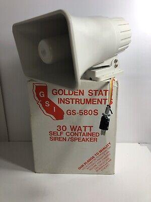 Siren Loud Speaker Golden State Instruments 30w Gs-580s
