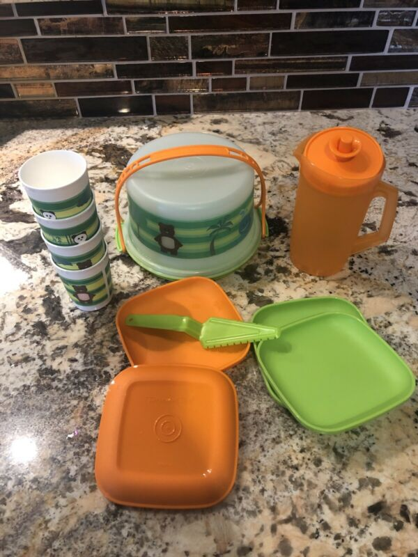 Tupperware Kids Cake Serving Set