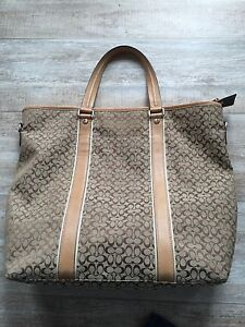 Coach Brown Signature Purse Shoulder