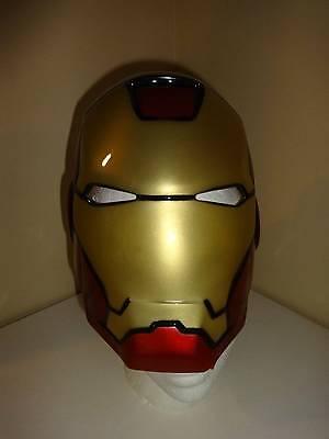 Men Dress Up Halloween (Iron Man Mask Dress-Up Halloween Avengers Assemble Marvel Comics)
