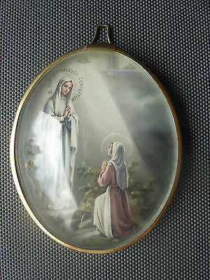 Antique Decoration Religious Lourdes Marie Religion Christian Old French