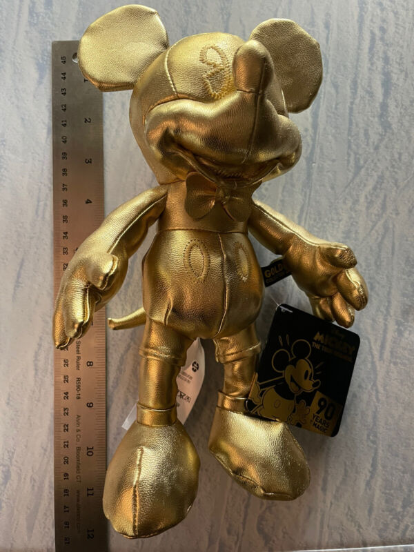 Mickey Mouse Memories Small Gold Plush Disney Store Exclusive 90 Years of Magic