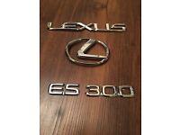 *NEW LEXUS LS430 ES300 ES330 REAR TRUNK EMBLEM 2001-2003 2004-2006 CHROME OEM
