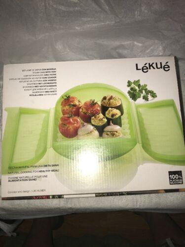 Lekue Steam Case 1-2 Person Microwave Steamer w/Tray