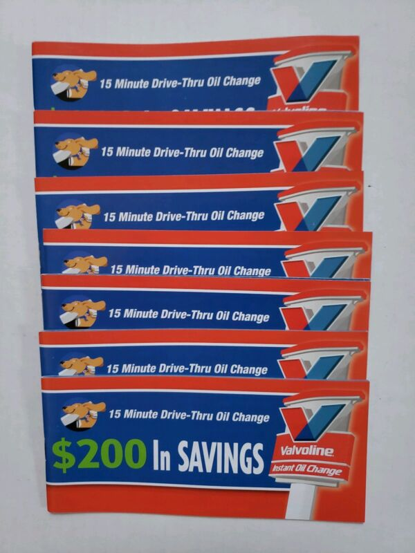 VALVOLINE $200 IN SAVINGS COUPONS BOOKLET NEW NEVER USE NO EXPIRATION DATE