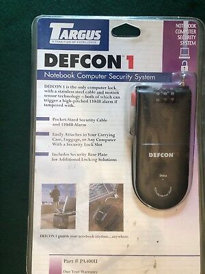 Targus PA400U Defcon 1 Notebook Security System NEW 4 digit combo w/110dB Alarm