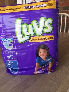 Size 4 luvs brand diapers and size 6 unopened