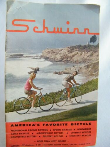 Schwinn 1965 Original Bicycle Sales Catalog w/Prices - Sting-Ray, Varsity