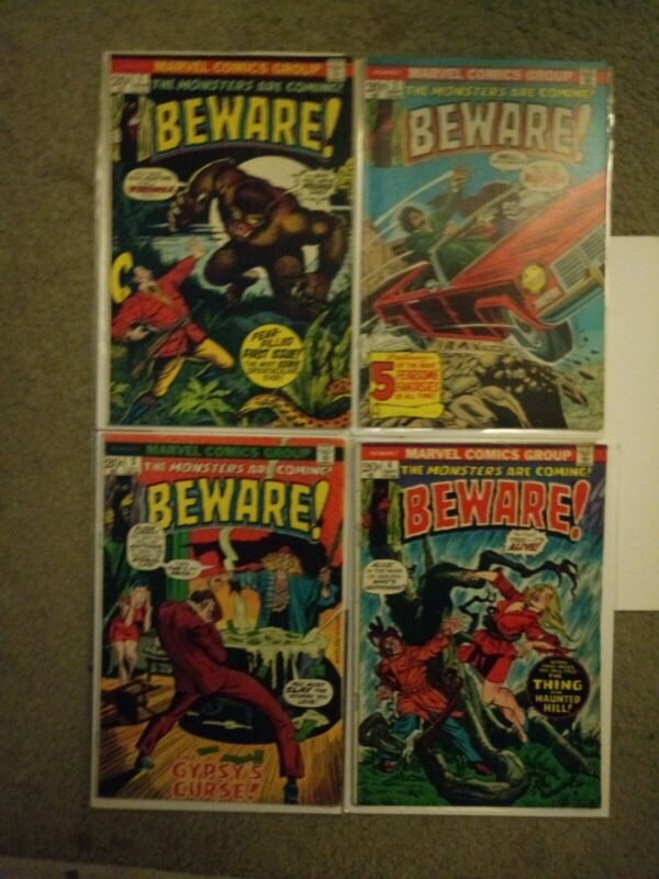 BEWARE! Issues#1,2,3,4,(Marvel, 1972) The Monsters Are Coming!