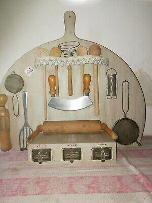 Old Küchenbrett-Bord-3 Glasschütten-bauernküche-hochzeitsbrett-deko Top Au
