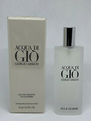Acqua Di Gio  By Giorgio Armani Eau De Toilette 15Ml  0.5 Oz Spray For Men NIB