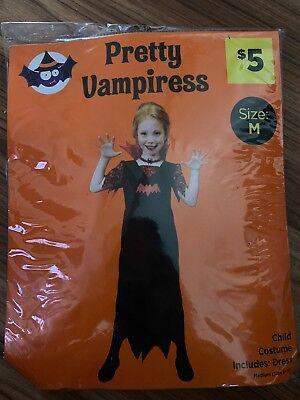 Pretty Vampiress Vampire Twilight Diaries Halloween Costume Cosplay M 8-10 ](Twilight Vampire Costumes)