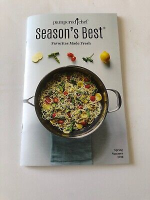 Pampered Chef Season's Best Cookbook Spring / Summer 2019 Color