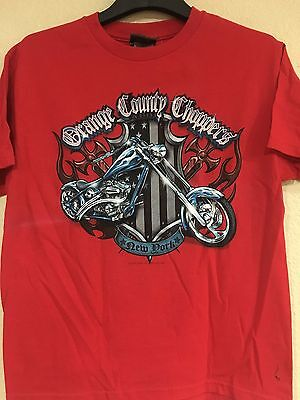 Orange County Choppers Youth Sizes Red Color Licensed T Shirt   Free Shipping