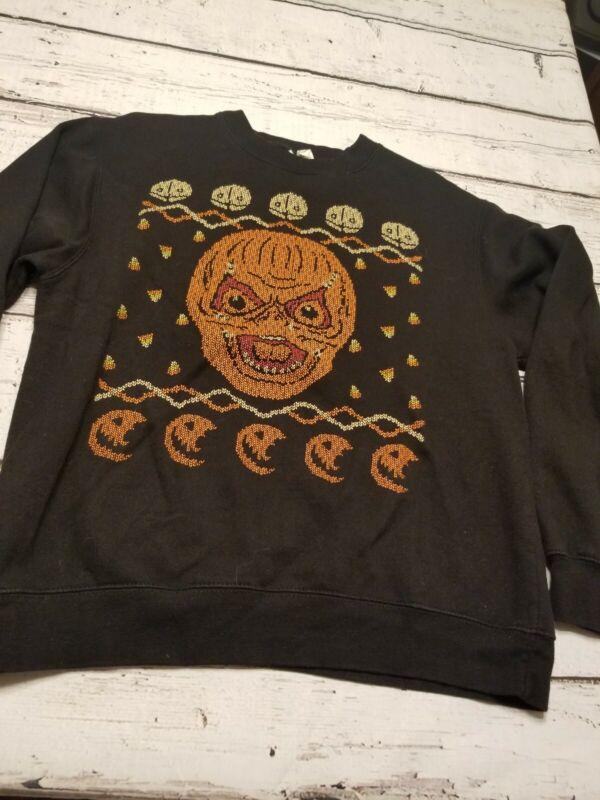 TRICK R TREAT SAM Shirt SWEATER SWEATSHIRT HALLOWEEN Horror Medium pumpkin