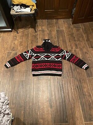 Ralph Lauren Hand Knit Wool Sweater Aztec Nordic