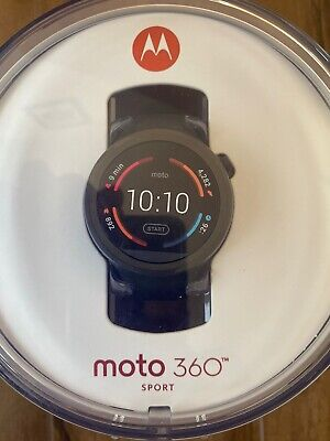 New Motorola Moto 360 Sport Smart watch Factory Sealed GPS Black Android & Apple