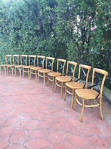 10 Cafe Style cane / wicker look Dining Chairs Berwick Casey Area Preview