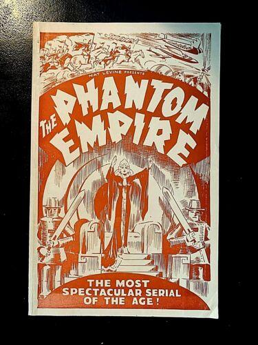 THE PHANTOM EMPIRE 1935 ORIGINAL MOVIE HERALD, GENE AUTRY, FRANKIE DARRO