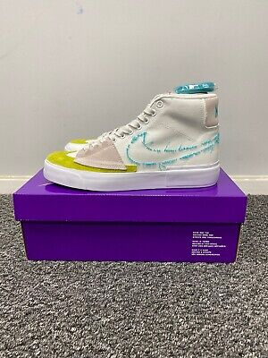 Nike Sb Zoom Blazer Mid Edge UK 8 Summit White/oracle Aqua Bundle