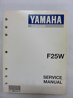 1997 Yamaha Outboard F25W Service Repair Manual LIT-18616-01-77
