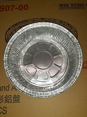 7 Round Aluminum Foil Take-out Pan 500 Bulk Pack - Disposable Tin Containers
