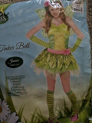 Adult Tinkerbell Disney Halloween Costume Theatre Junior 3/5 NEW