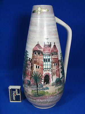"""Beautiful handpainted 50´s WGP design JAWE jug vase Krug Vase """"Spanien"""" 46"""