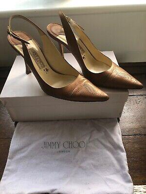 Jimmy Choo Boutique Ethel - Metal Washed Goat Tan - Bronze