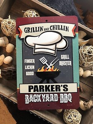 Personalized Backyard BBQ Sign - Home Decor - BBQ Sign- Grill Sign - Bar Sign