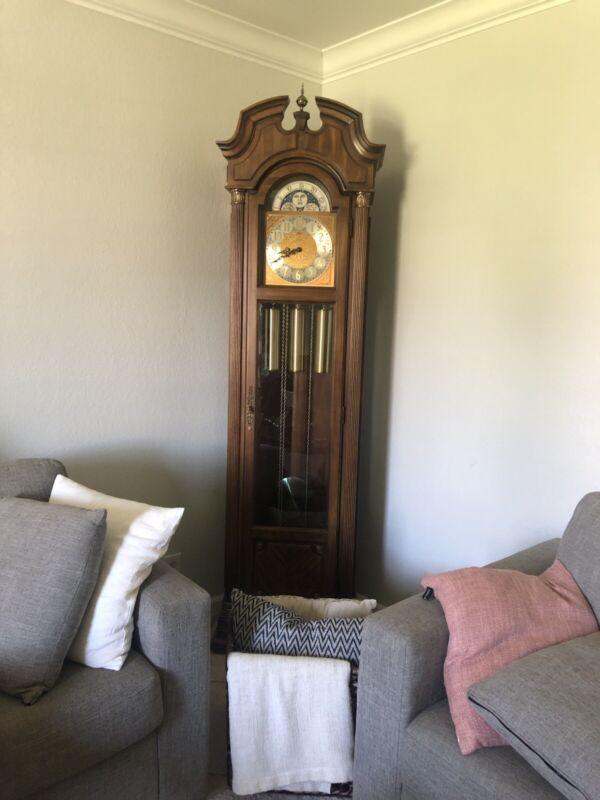 Ridgeway Grandfather Clock UW 3/12 Model 337 Serial 8294 Serviced Runs