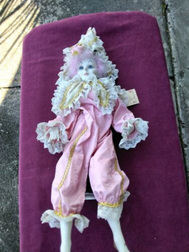 JO ANN BOURGEOIS KIGER Genuine Porcelain 23 Doll New Orleans preowned  - $57.00