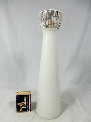 Formschöne 80´s Design Hutschenreuther Porzellan Vase geometrisches Dekor 25,5cm