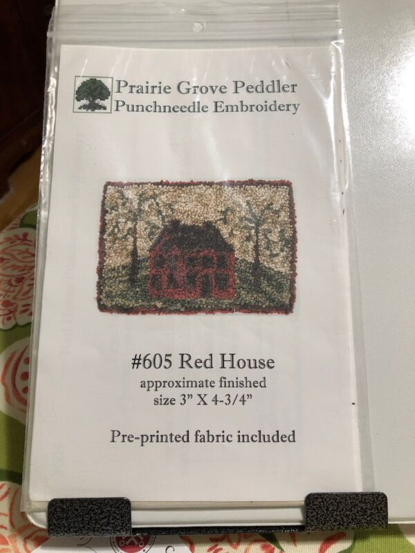 Prairie Grove Peddler Punchneedle Embroidery #605 605 Red House
