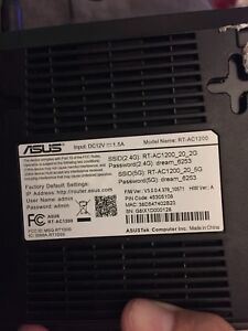 Asus AC1200 dual band router.