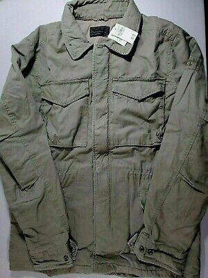 Men's Abercrombie & Fitch All-Weather Jacket Coat Olive XL