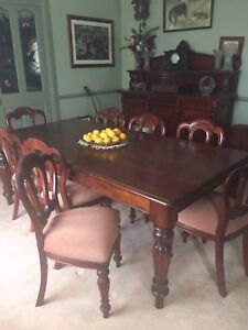 SOLID MAHOGANY TABLE AND CHAIRS Pitt Town Hawkesbury Area Preview
