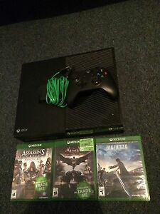 Xbox one with 3 games and charger for controller