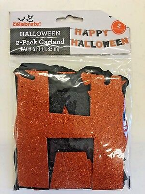 Happy Halloween Garland ( Happy Halloween Garland Banner teacher supply party decor 6'  trick or)