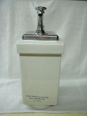 Soda Fountain Chrome Syrup Dispenser--a4661--choc--fischman Co--vtg-original