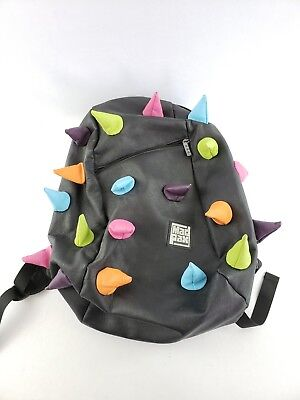 Madpax Spiketus-Rex Black Backpack with Multi-Color Rainbow Spikes](Black Spike Backpack)